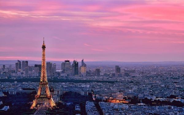 Pink Paris Wallpaper Desktop