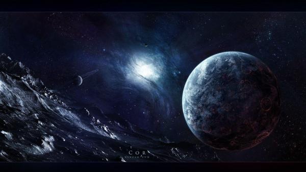 Trippy Space Art Wallpaper