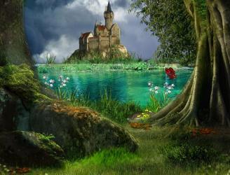 Beautiful Enchanted Fantasy Castle