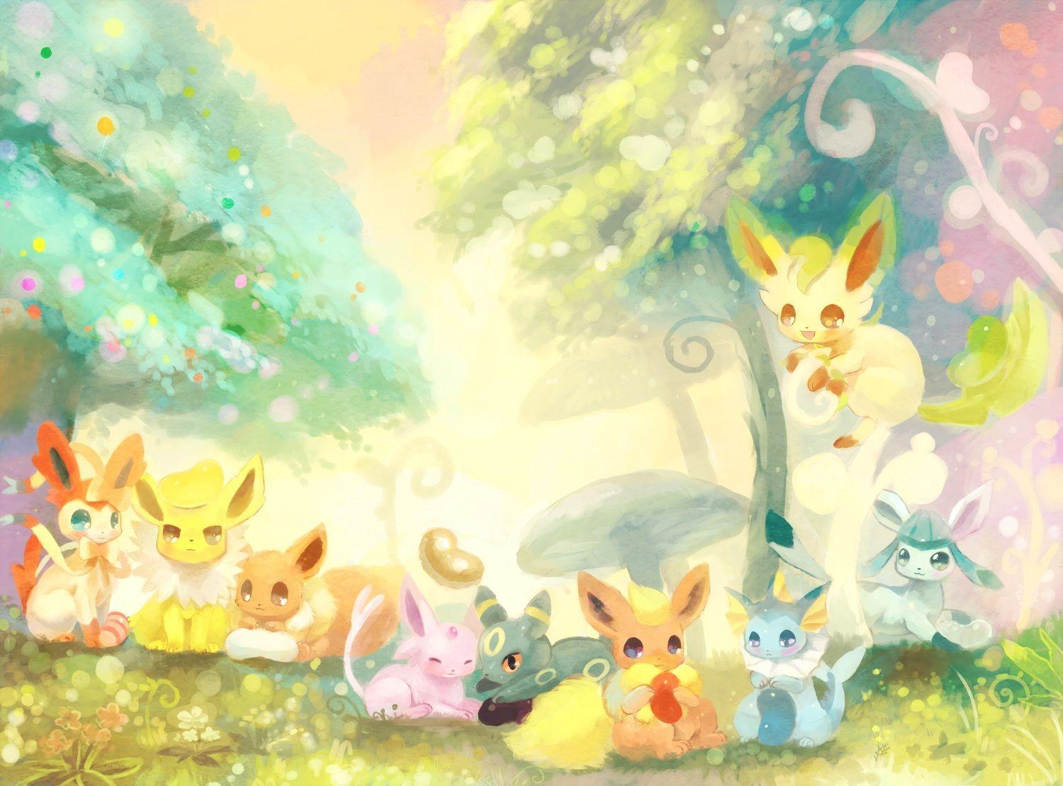 Cute Glaceon Wallpapers For Android Pokemon Eevee Wallpapers Wallpaper Cave