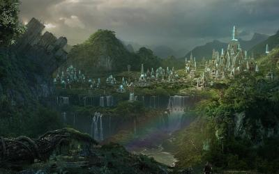 fantasy medieval wallpapers forest mountain cities desktop rise mountains jungle legends