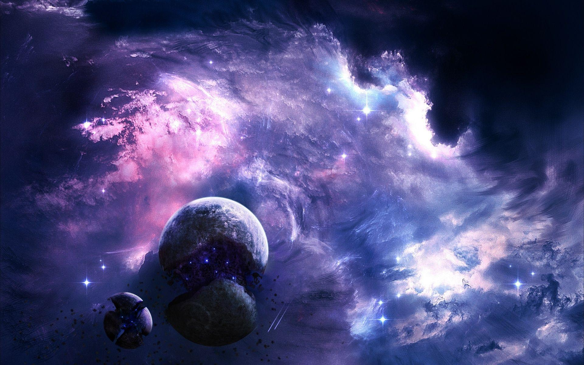 purple galaxy wallpapers wallpaper