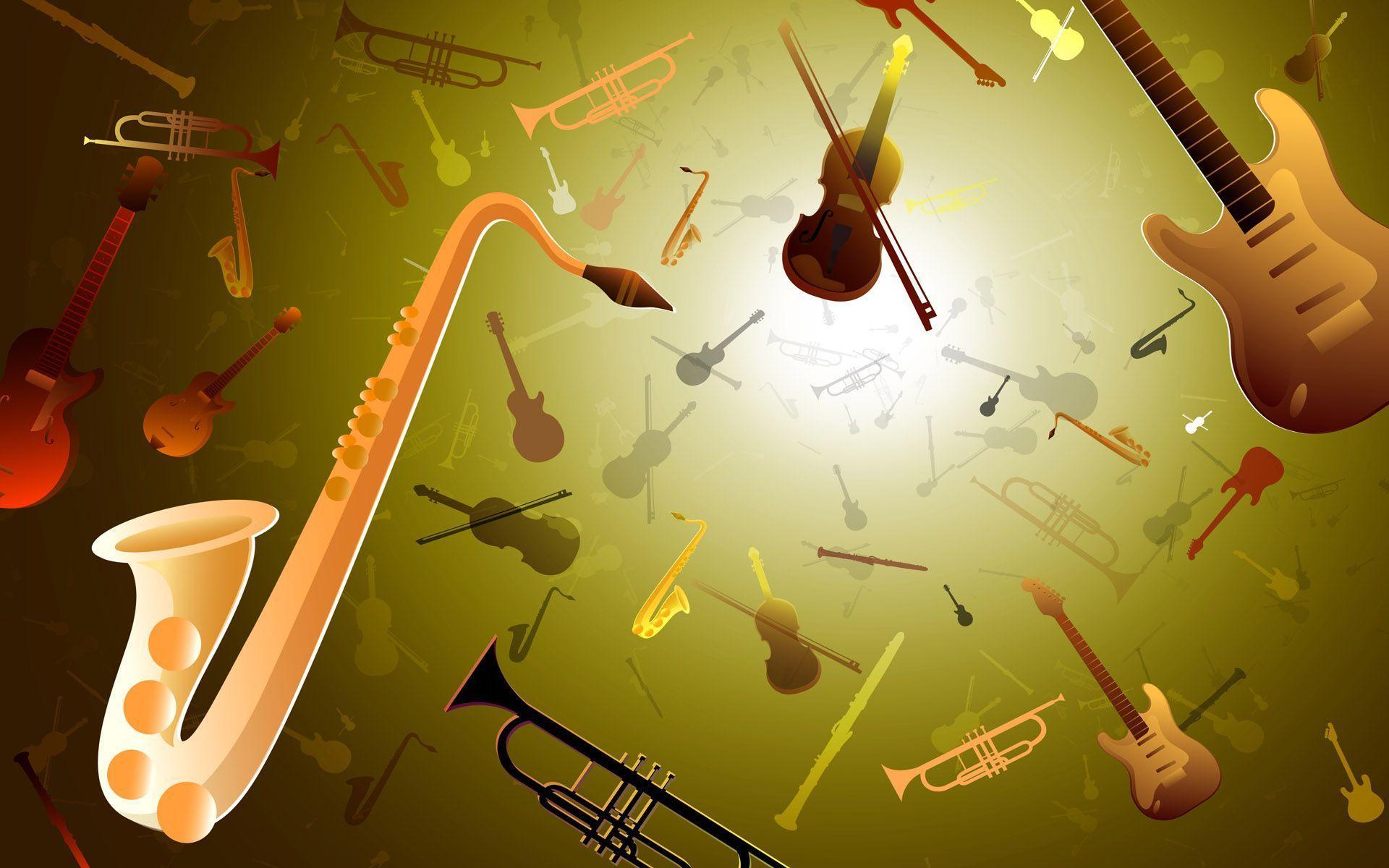 Musical Instrument Desktop Background
