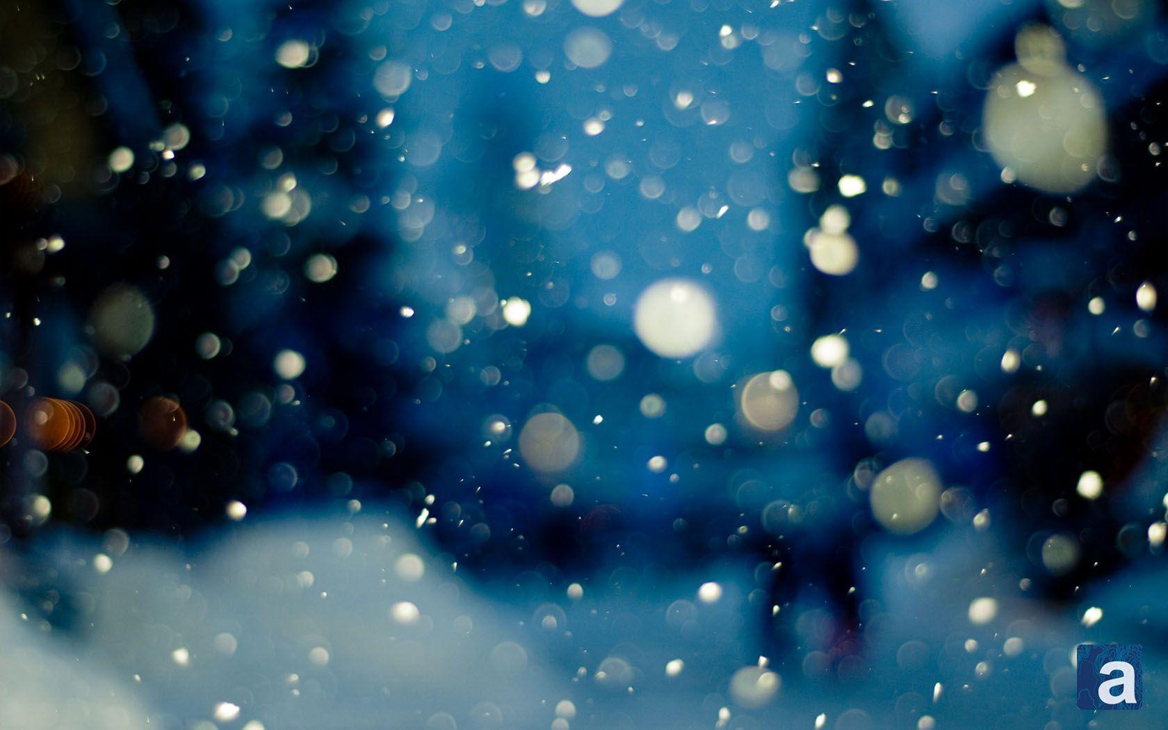 Desktop Wallpaper Falling Snow Snowfall Wallpapers Wallpaper Cave