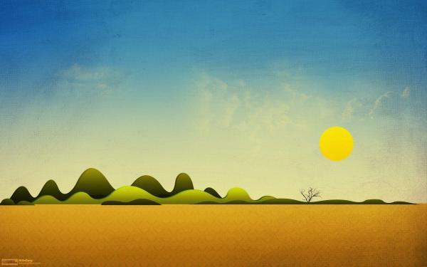 Simple Landscape Desktop Background