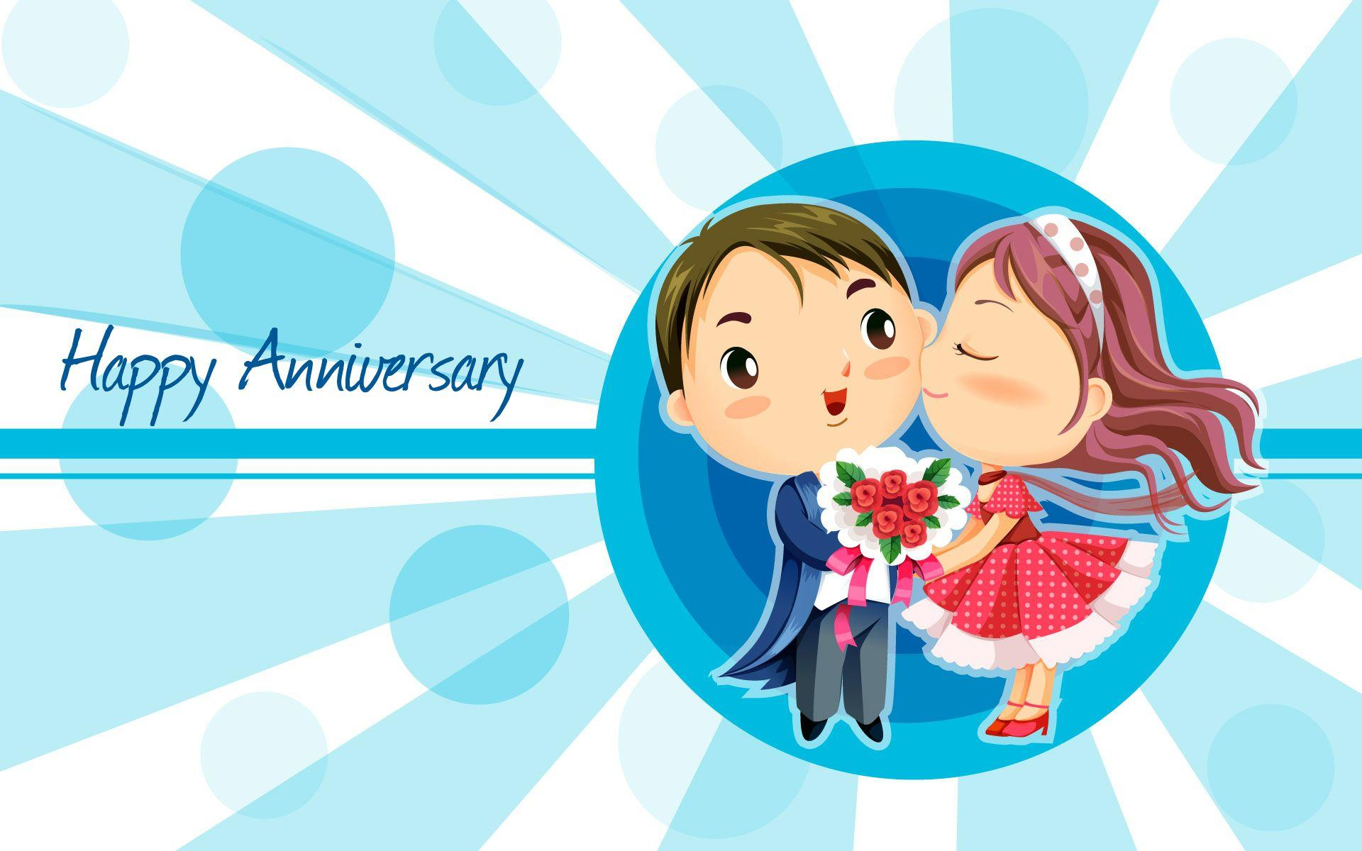 Cartoon Couple Wallpaper With Quotes Happy Anniversary Wallpapers Wallpaper Cave