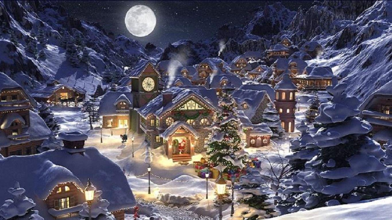christmas scenery wallpapers wallpaper