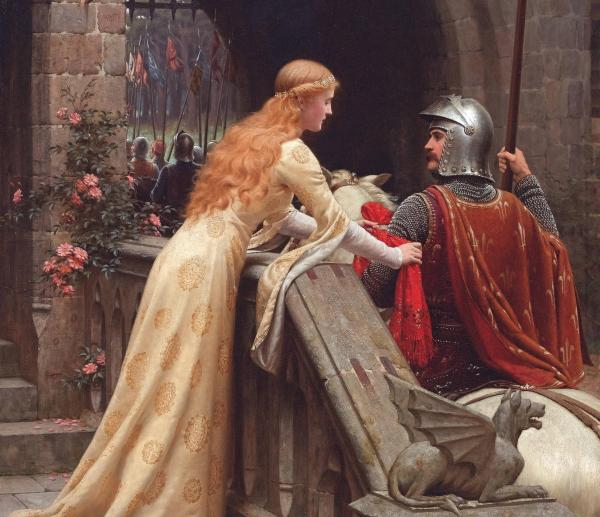Medieval Knight and Maiden Art