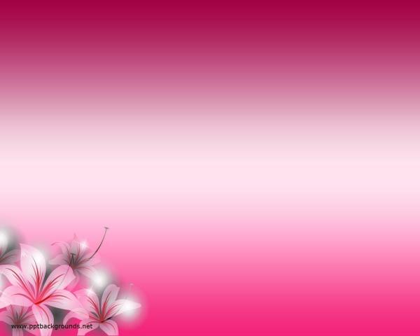 Pink Flower PowerPoint Template