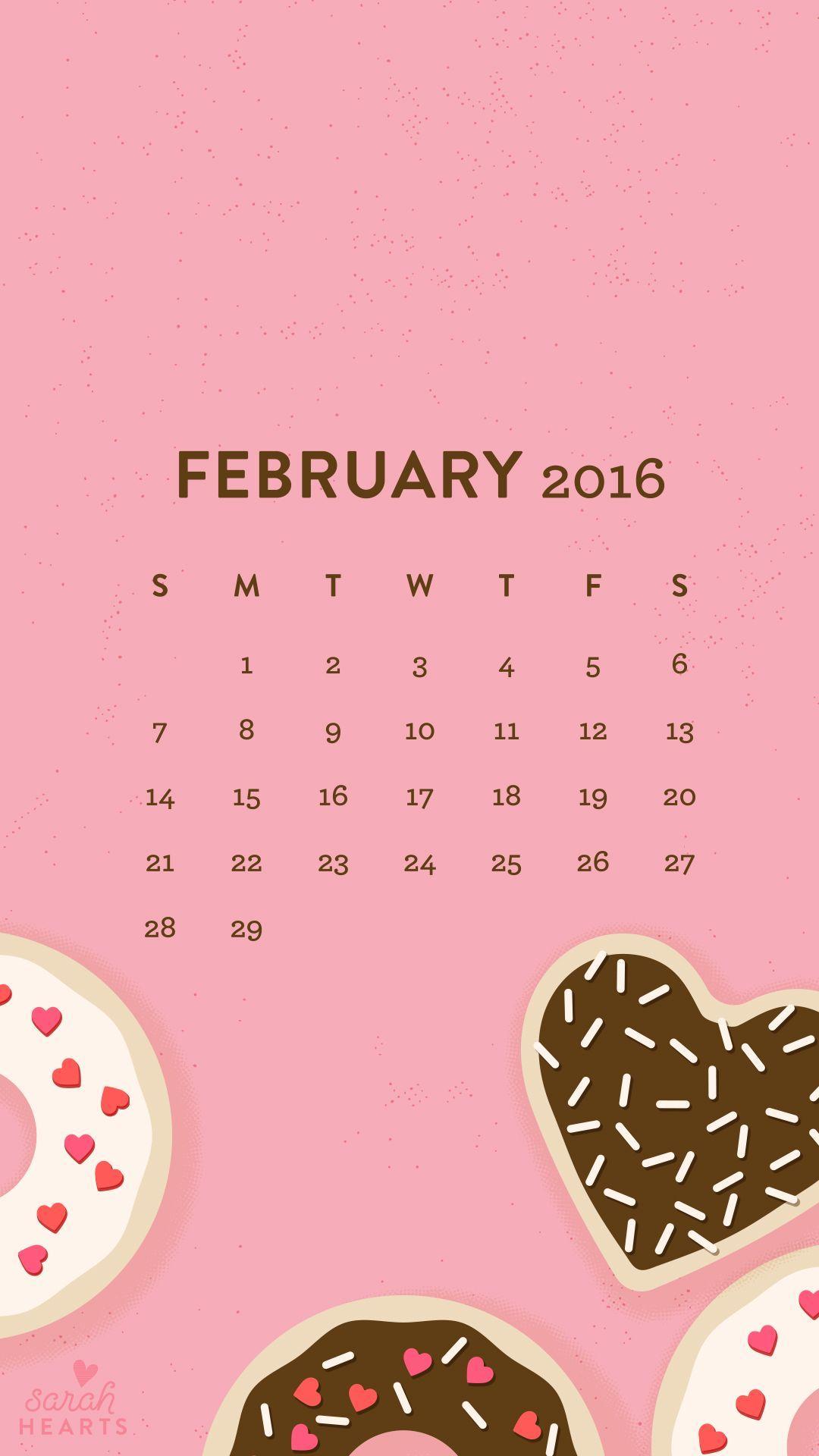 Donut Wallpaper Cute February 2016 Wallpapers Calendar Wallpaper Cave