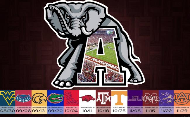 Alabama Football 2016 Schedule Wallpapers Wallpaper Cave