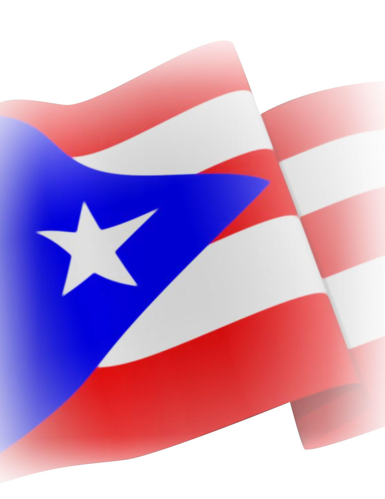 Zendha Black Puerto Rican Flag Wallpaper