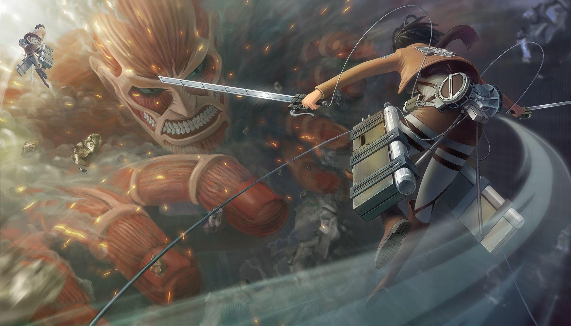 Remove wallpaper in five steps! Attack On Titan Wallpapers - Wallpaper Cave