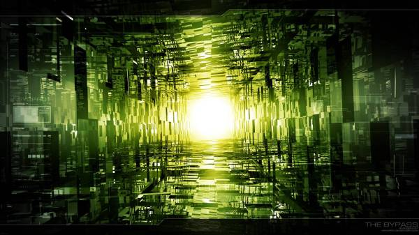 Black Green Abstract HD Wallpaper 1920X1080