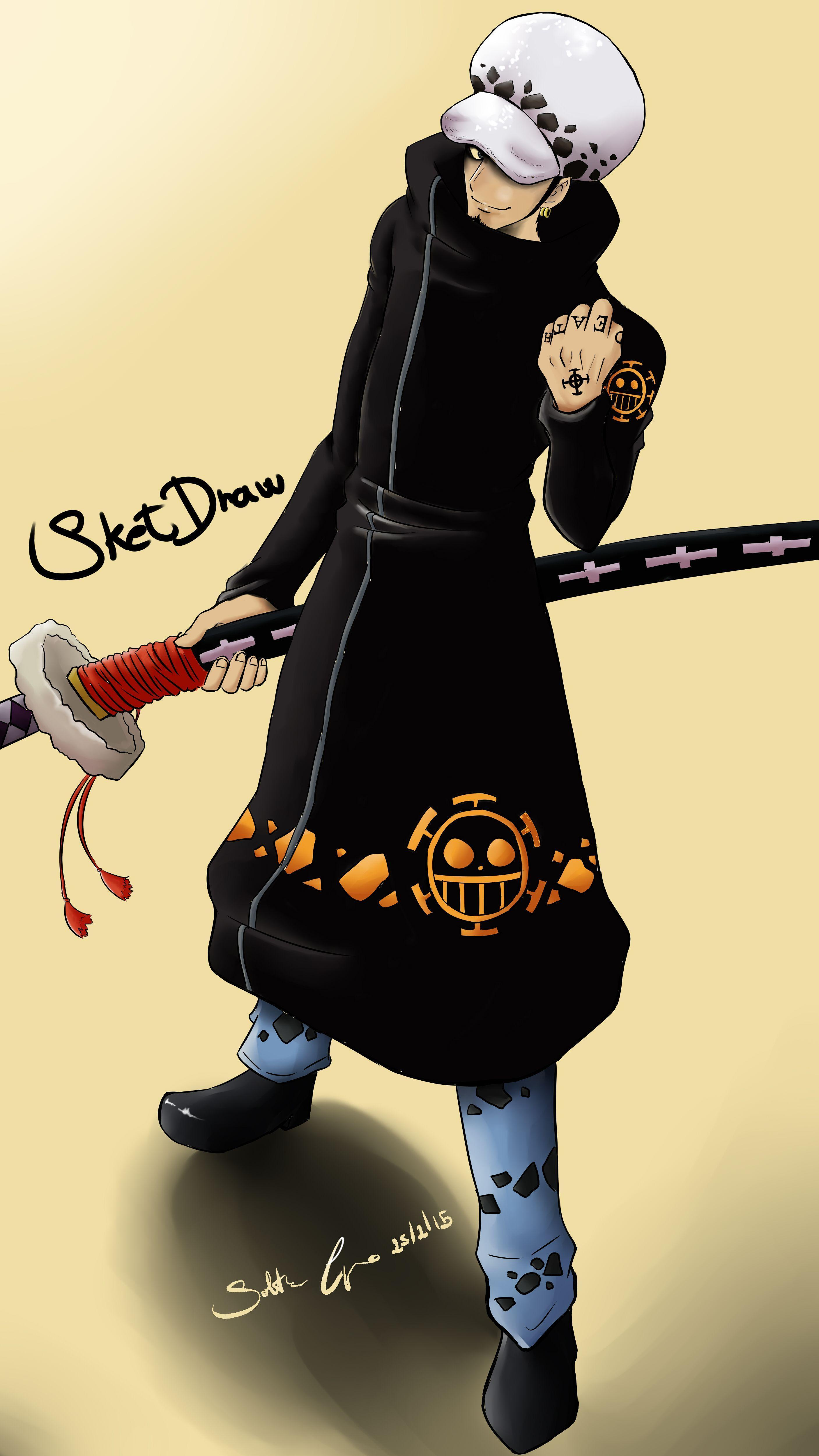 Water law anime one piece mangaka character, trafalgar law,. One Piece Law Wallpapers - Wallpaper Cave