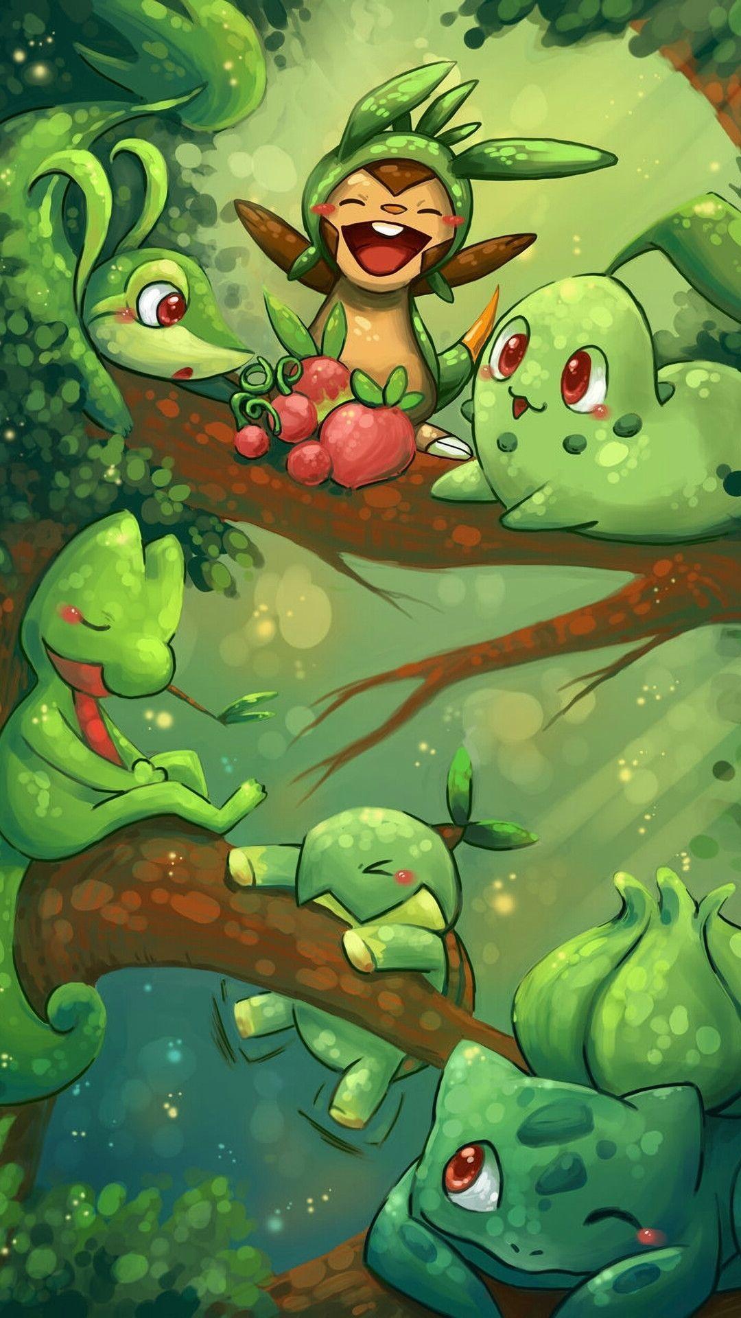 Pokemon Starters Wallpaper : pokemon, starters, wallpaper, Pokemon, Grass, Starters, Wallpaper, Anime