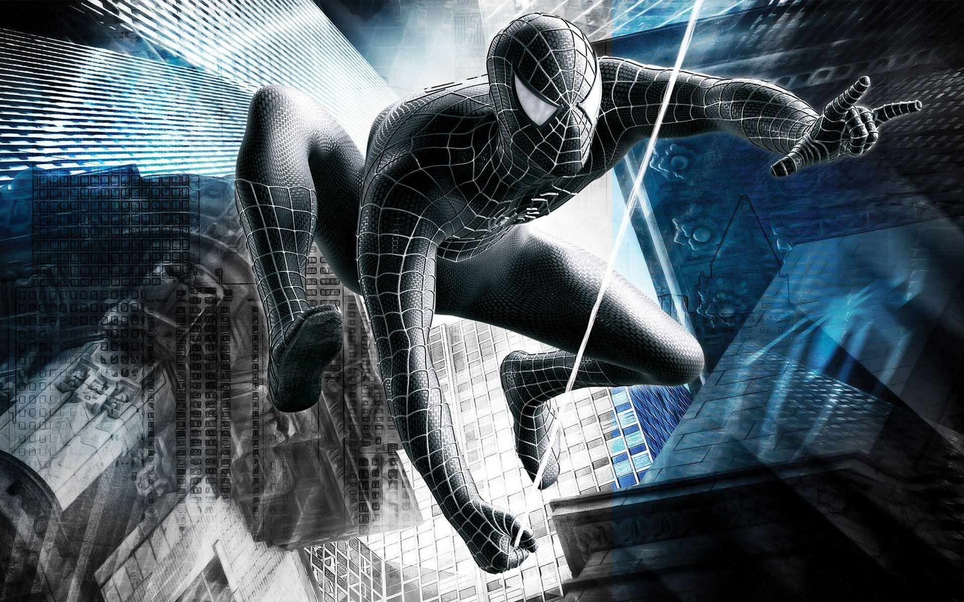 black spider man wallpapers