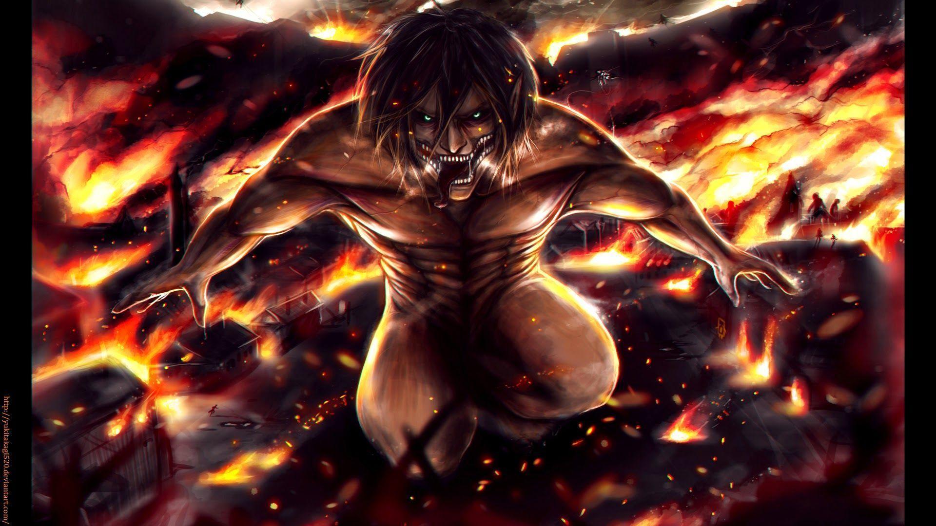Anime aot shingeki no kyojin manga attack on titan characters eren jaeger eren levi mikasa mikasa ackerman green eyes fire snk. Eren Yeager Wallpapers - Wallpaper Cave