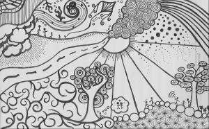 doodle doodles cool backgrounds doodling drawings patterns dibujos paisaje paisajes paper pen wallpapers dibujo guardado desde
