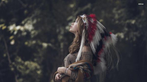 Native American Headdress Girls Wallpapers - Wallpaper Cave