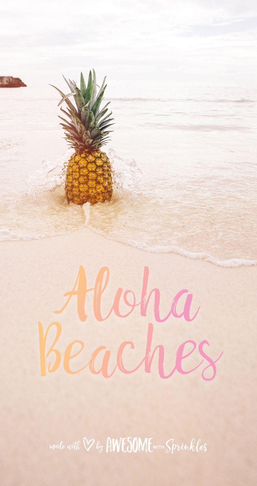 Pineapple Cute Wallpaper Aloha Wallpapers Wallpaper Cave