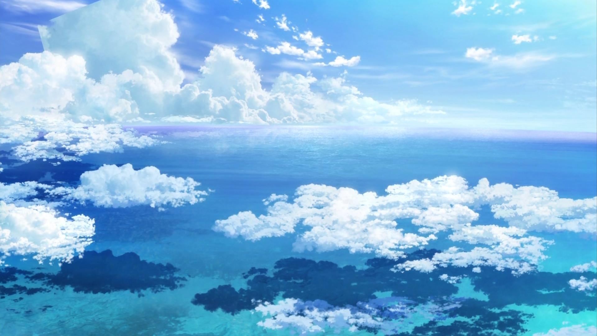 Anime Sky Wallpaper Hd Trendsmeup