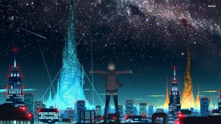 sky anime starry night background wallpapers cool desktop 4k hd monodomo backgrounds star cave nightcore wallpapercave rage 1080