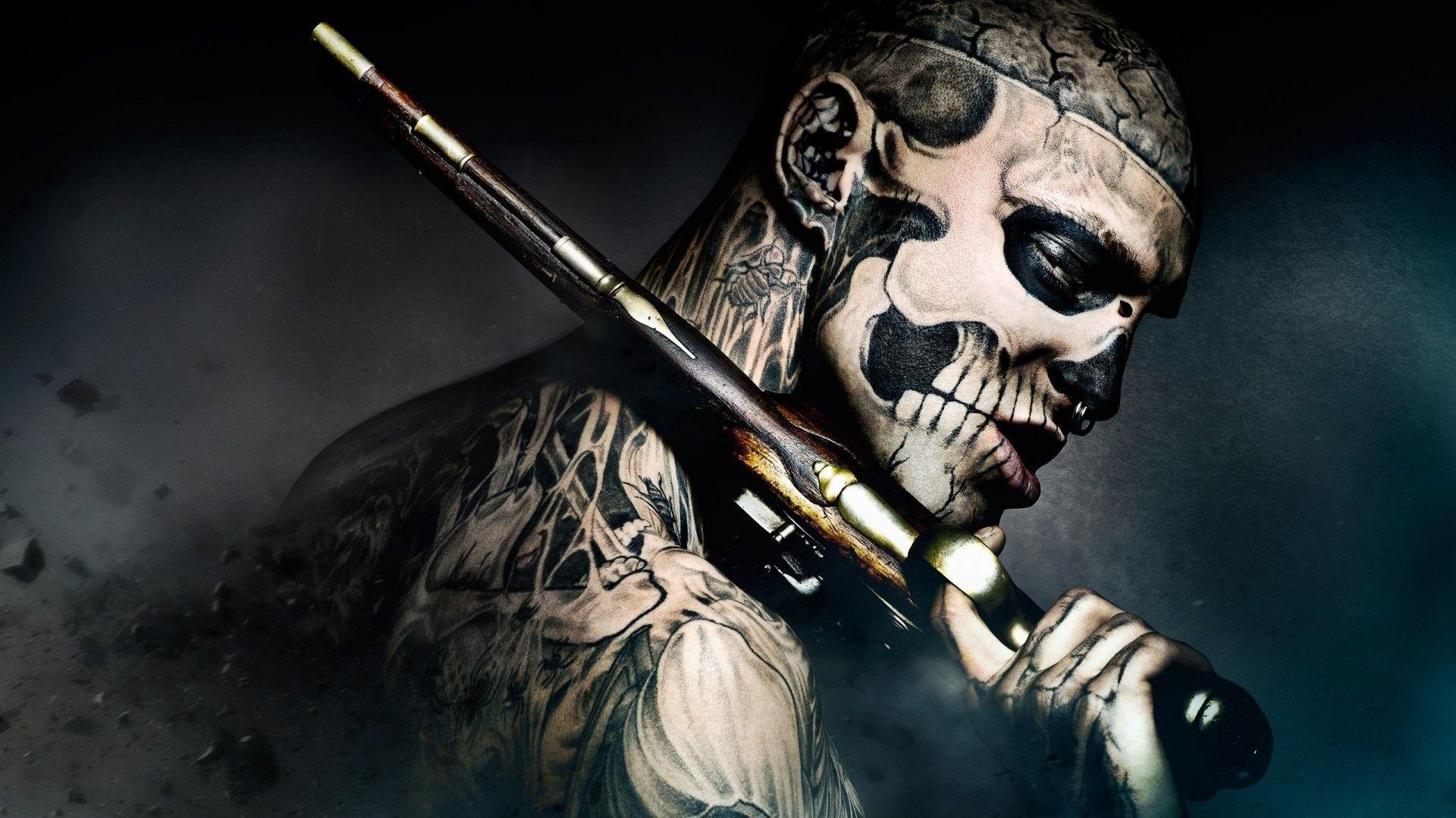 skulls and guns wallpapers
