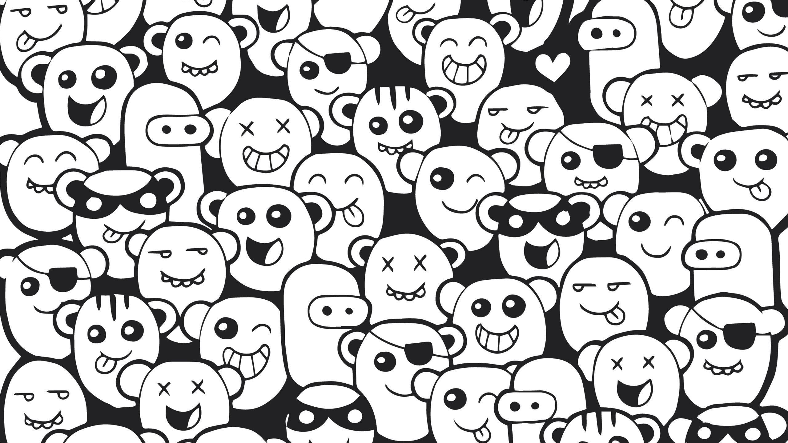 Doodle Monster Wallpapers  Wallpaper Cave