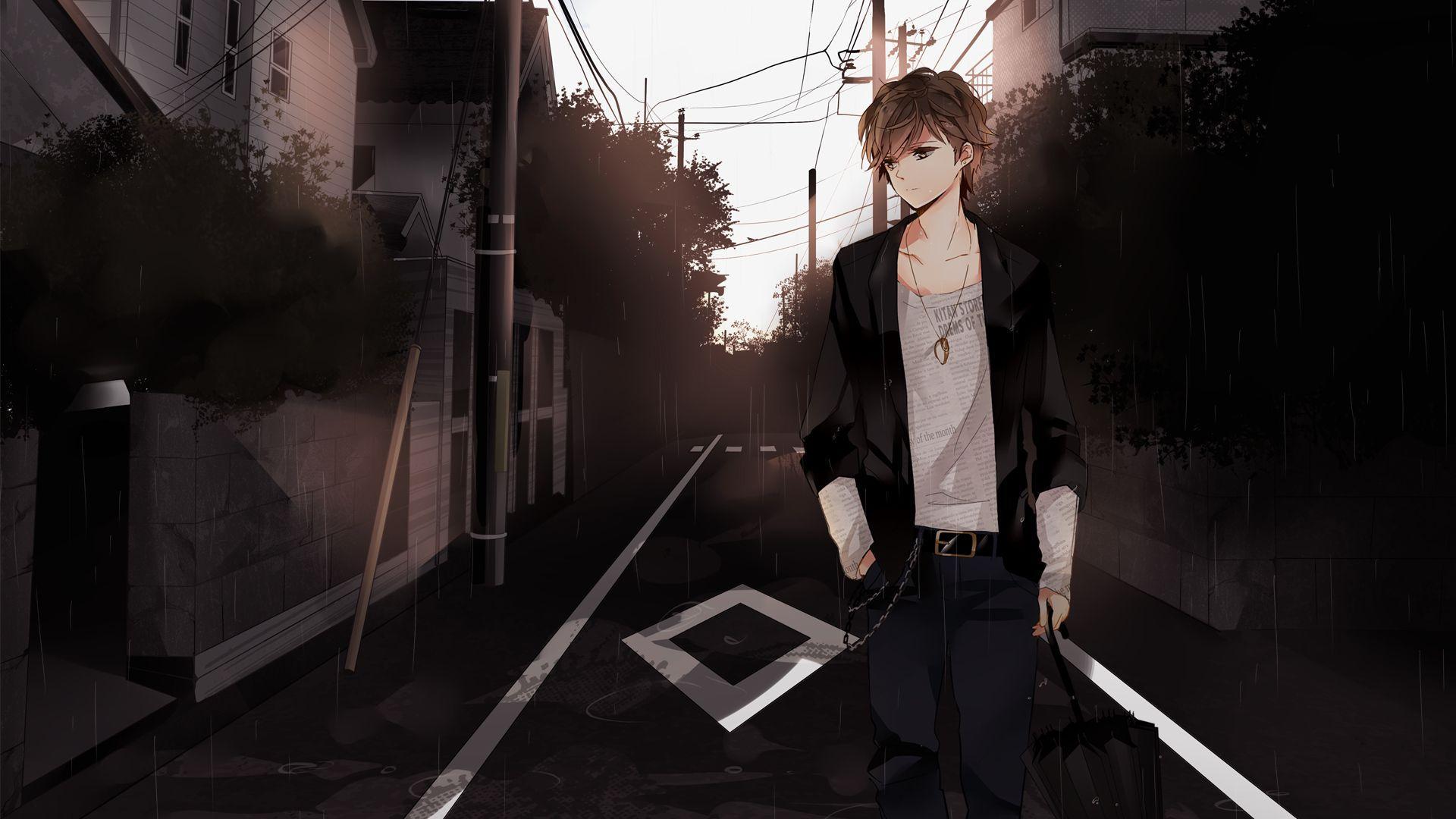 sad anime boy wallpapers