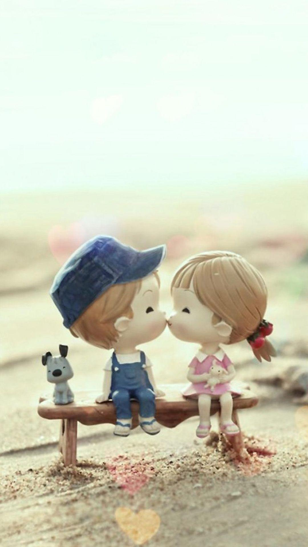 Cartoon Beautiful Love Romance Cute Couple Pic