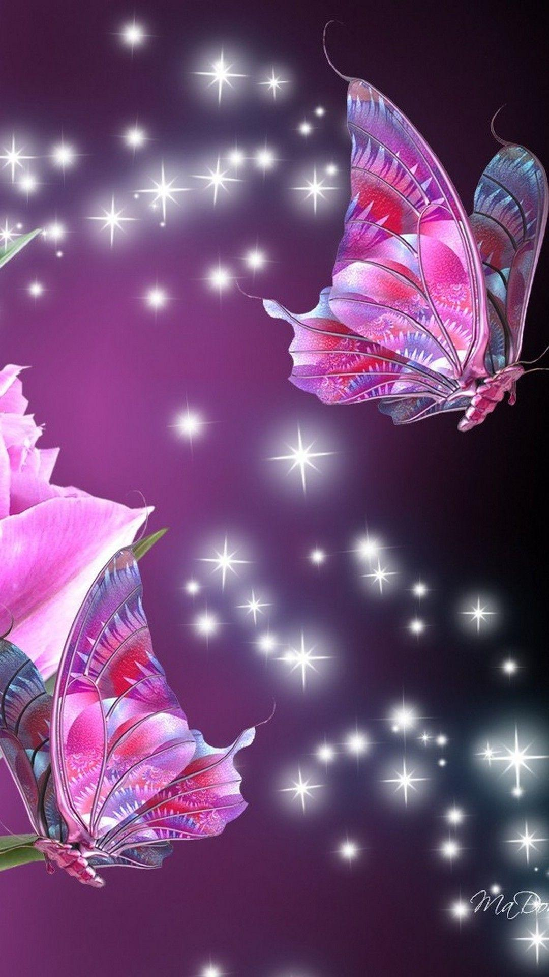 Cute Pink Cell Phone Wallpaper Cute Butterfly Wallpapers For Mobile Phones Wallpaper Cave
