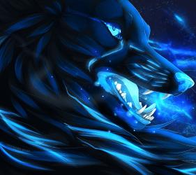 Galaxy Mystical Wolves Wallpaper