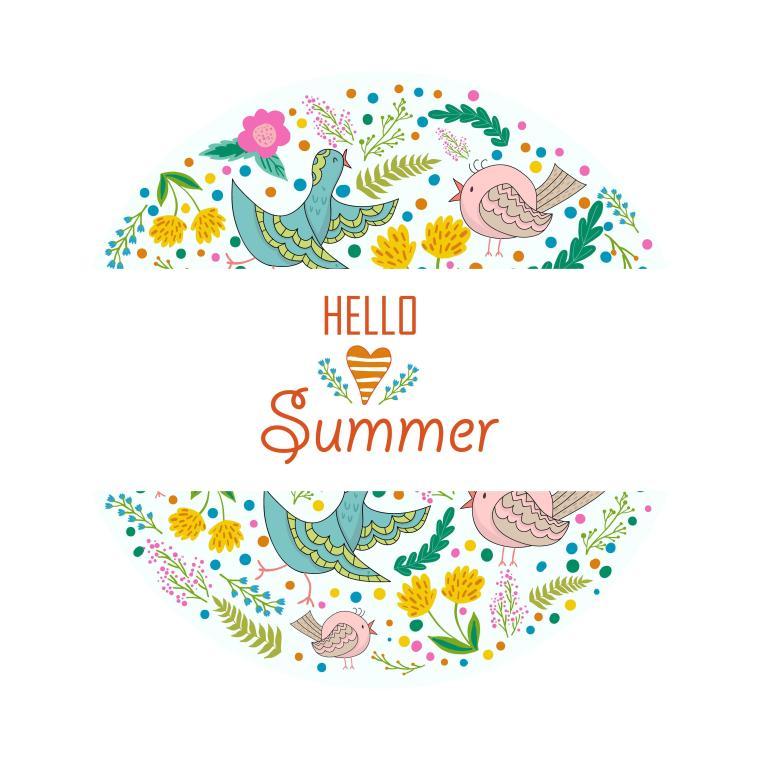 Wallpaper Hello Summer, Floral, Design, Flowers, Birds, 4K, Creative ...