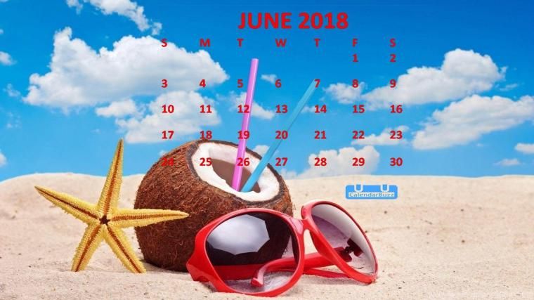 June 2018 Calendar HD Wallpaper | 2018 Calendar Wallpapers ...