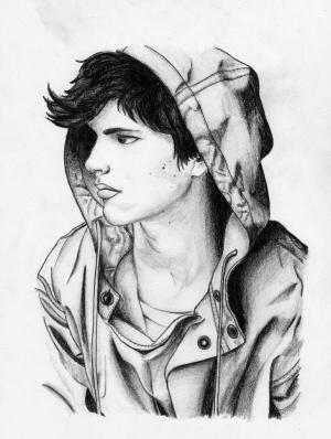 boy boys pencil drawing sketch cool sketches sad wallpapers drawings friends anime amazing paintingvalley drawingartpedia cave portrait guy