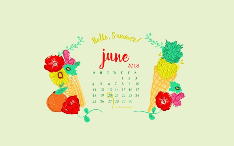 June 2018 HD Calendar Wallpapers | Calendar 2018