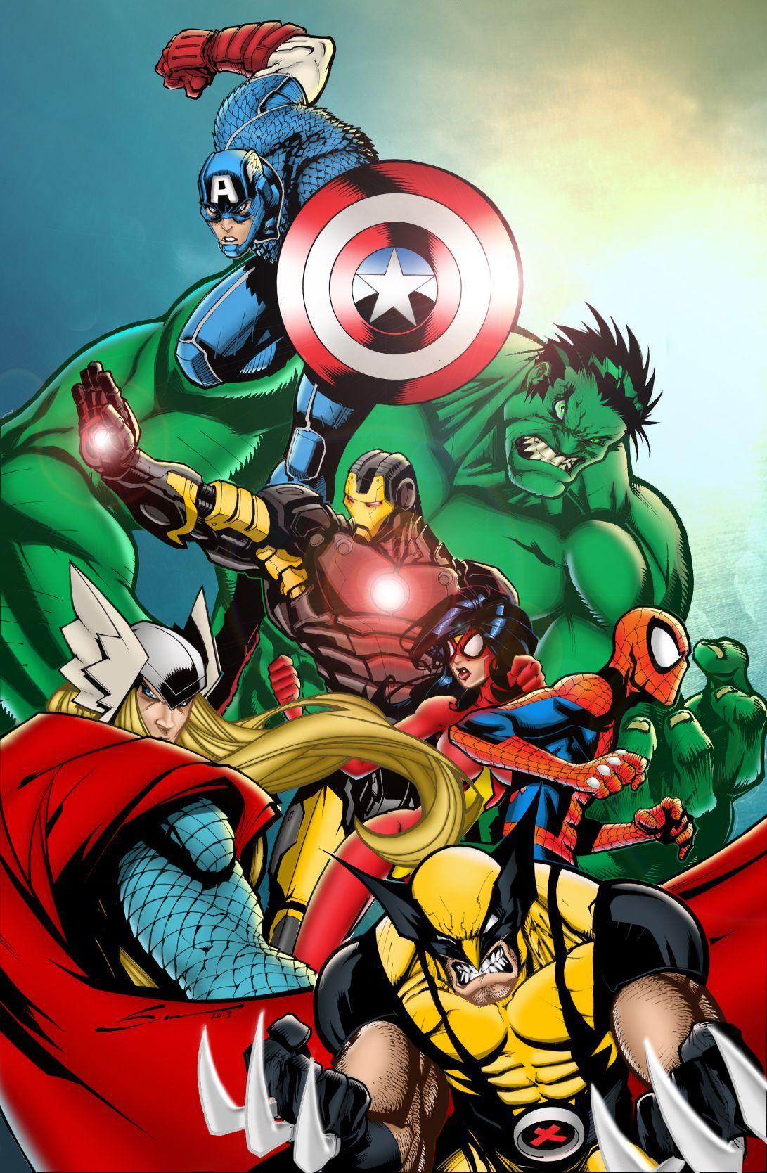 Avengers Assemble Wallpaper Hd Avengers Cartoon Wallpapers Wallpaper Cave