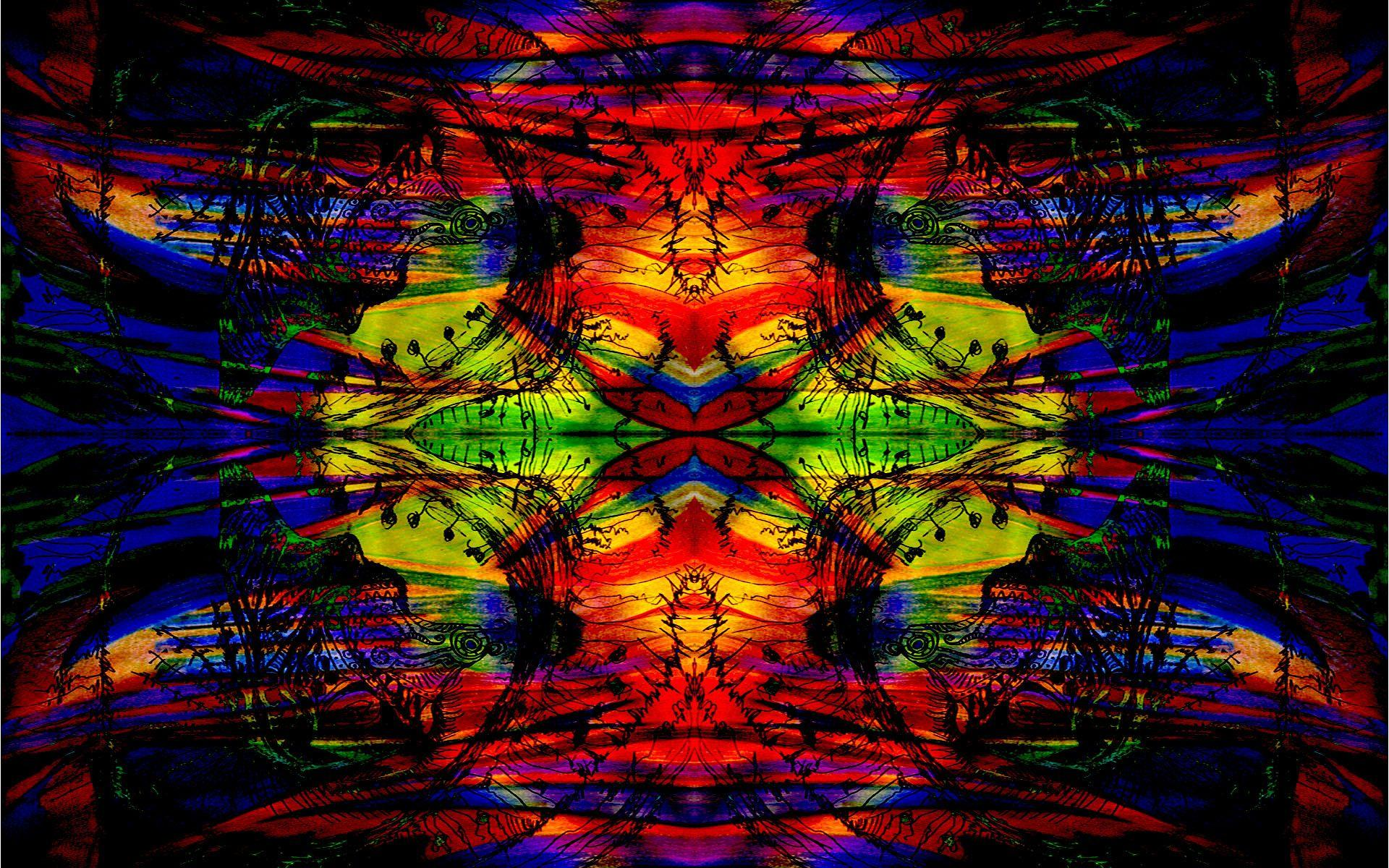 Sugar Skull Iphone Wallpaper Trippy Acid Wallpapers Wallpaper Cave