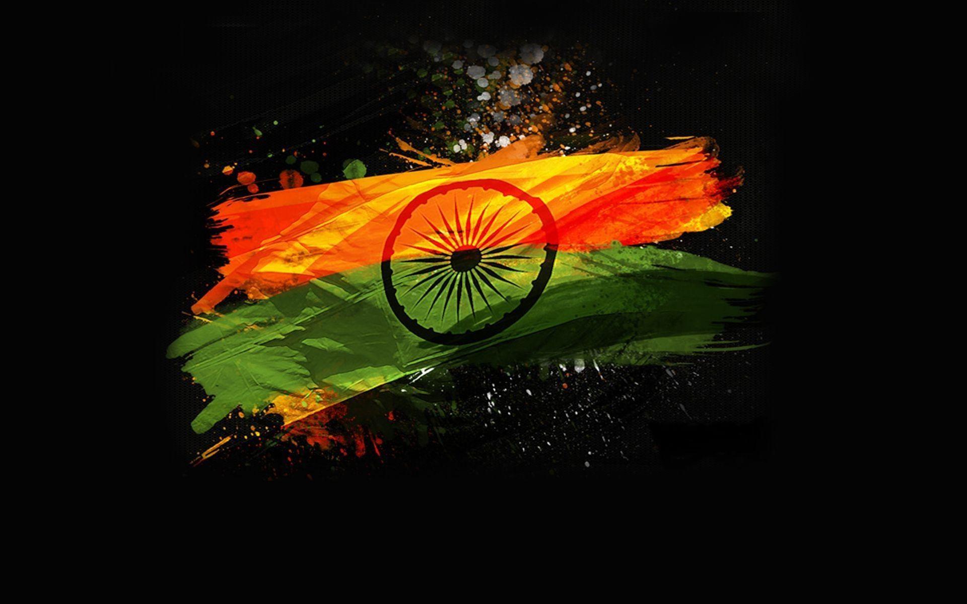 indian flag black backgrounds