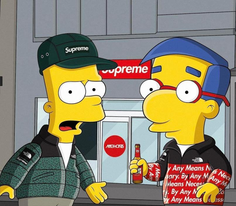 Supreme X Bart Simpson Wallpaper Djiwallpaper Co