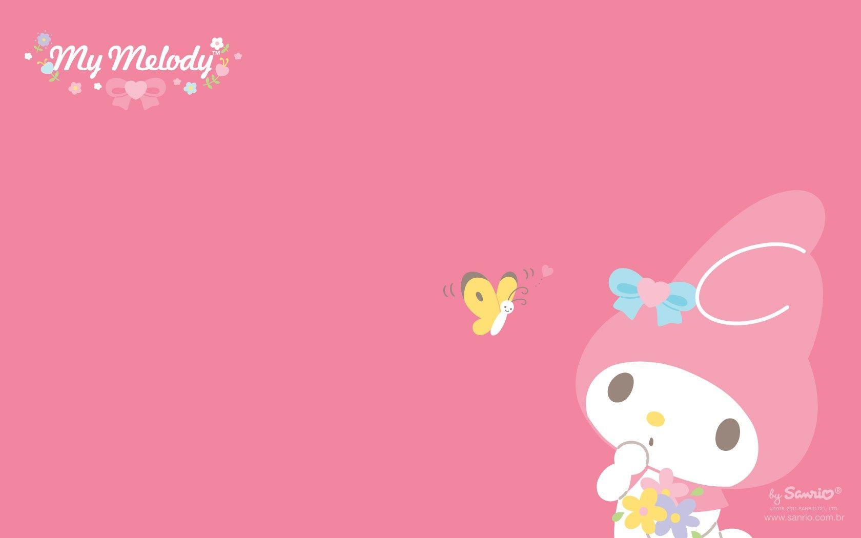 Hello Kitty Pink Cute Wallpaper Bergerak My Melody Wallpapers Wallpaper Cave