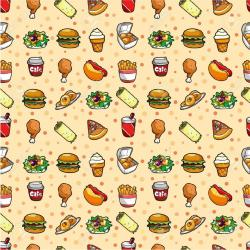 food fast pattern wallpapers patterns cartoon seamless hd backgrounds cooking foods illustration vector drawing meals paper birds donut angry open
