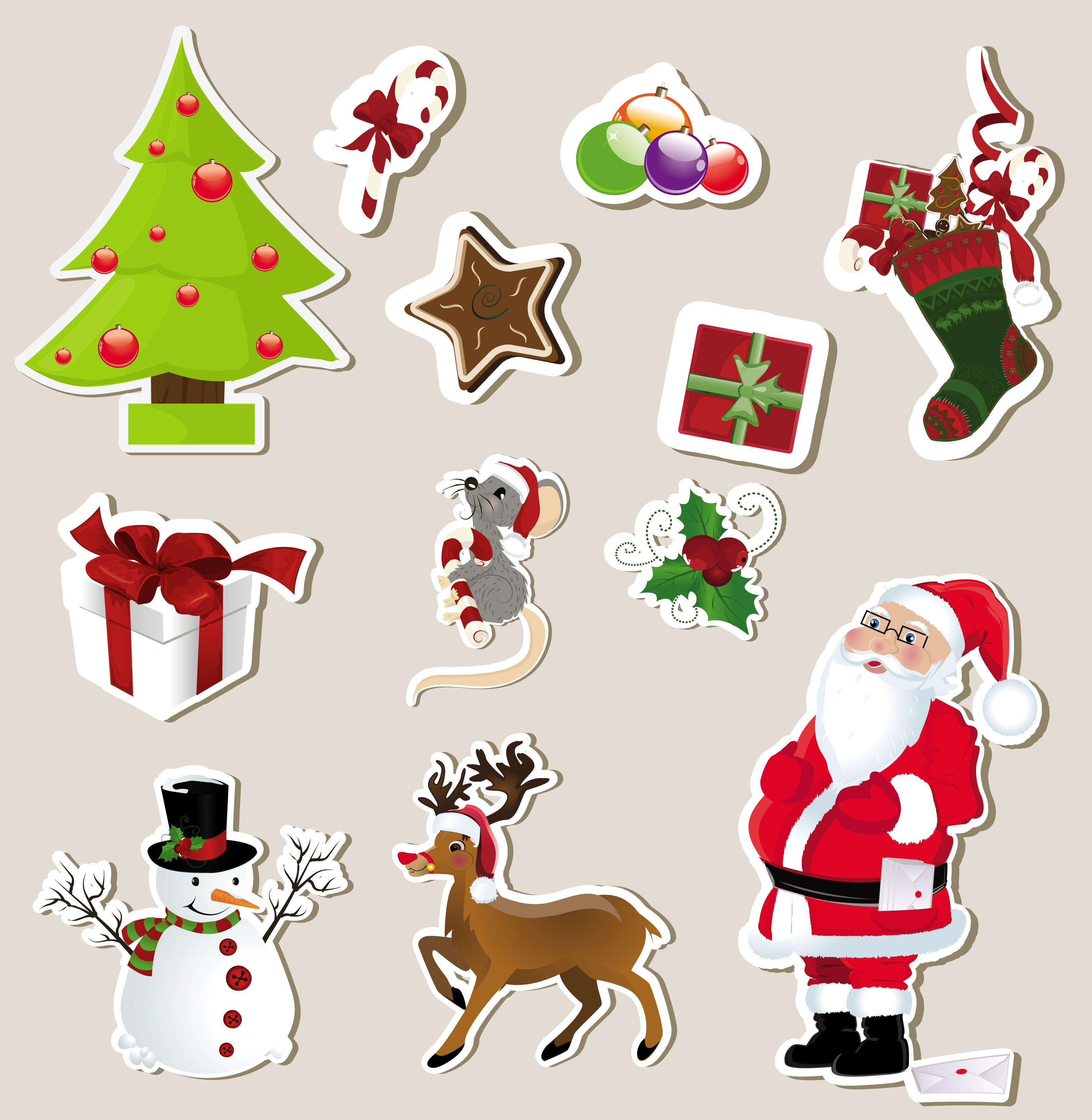 Christmas Stickers Wallpapers