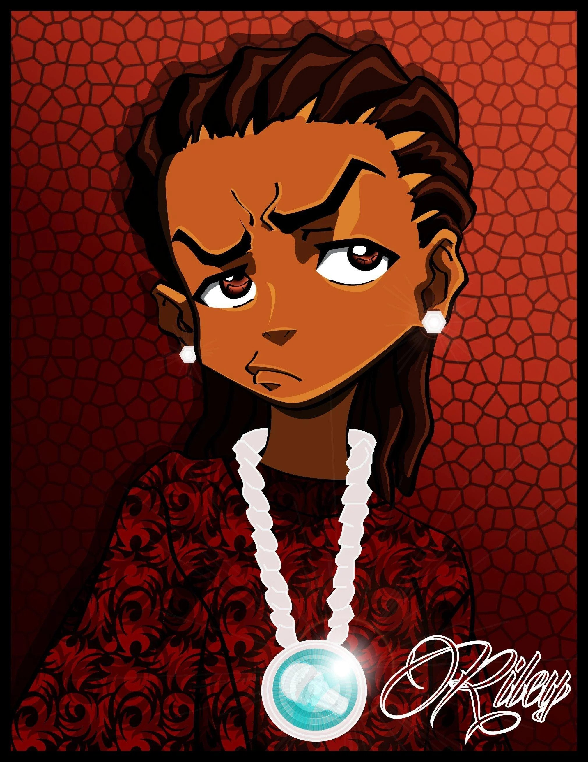 Blood Gang Cartoon : blood, cartoon, Boondocks, Wallpapers, Wallpaper