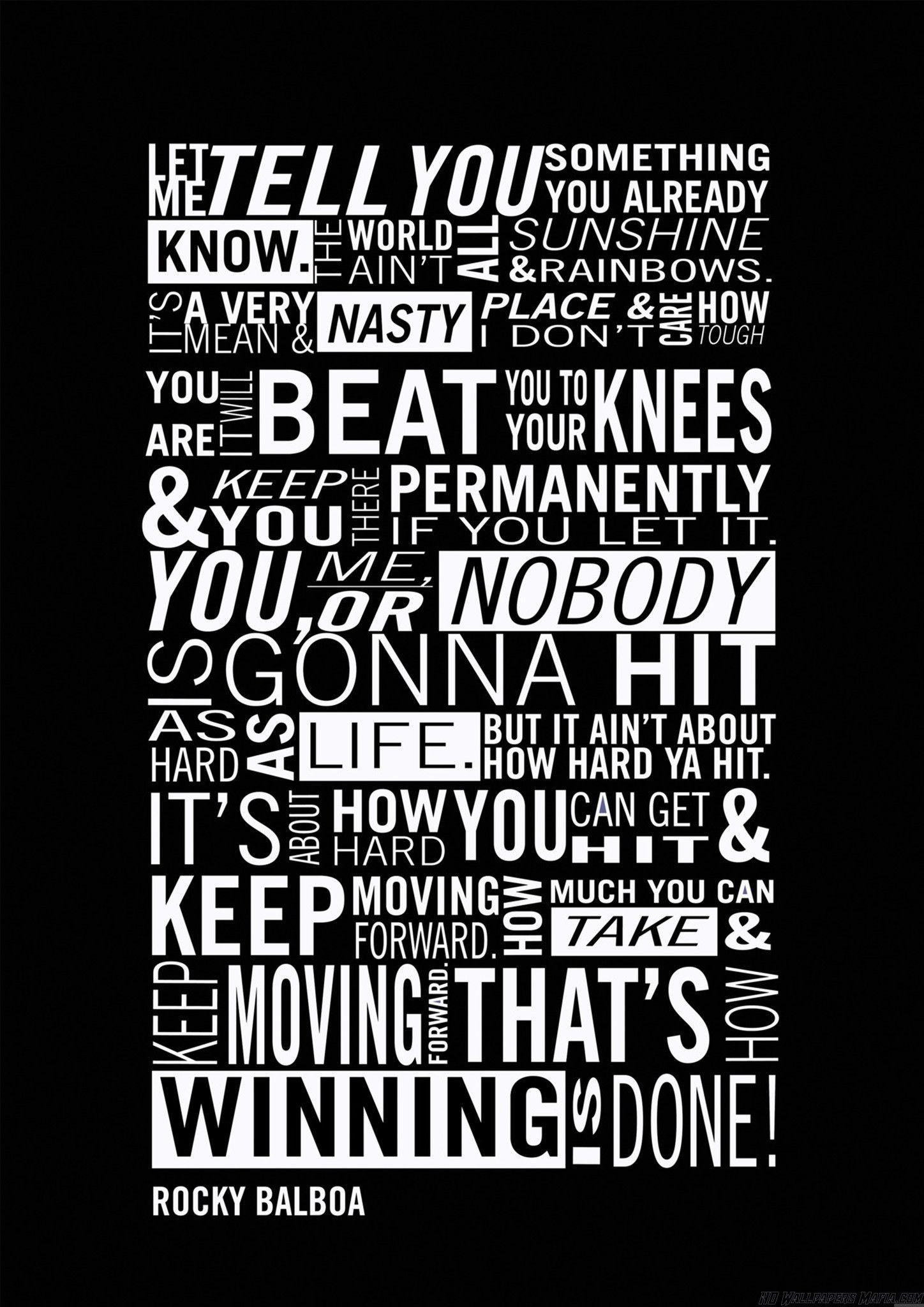 #rocky quotes on Tumblr