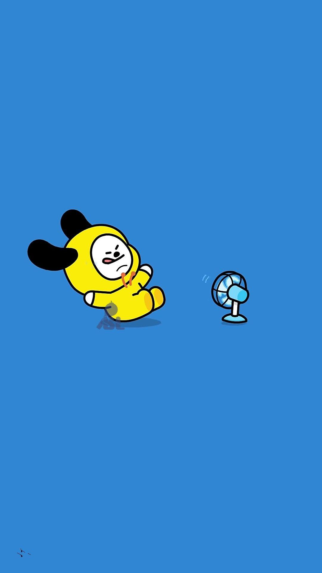 Cute Wallpapers With Emojis Bt21 Chimmy Wallpapers Wallpaper Cave