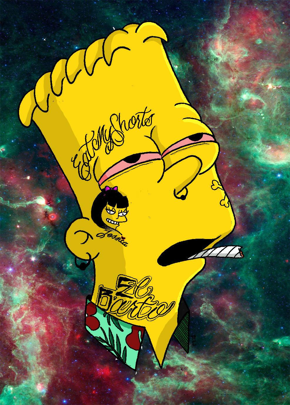 Bart Simpson Gangster Wallpapers - Top Free... - WallpaperAccess