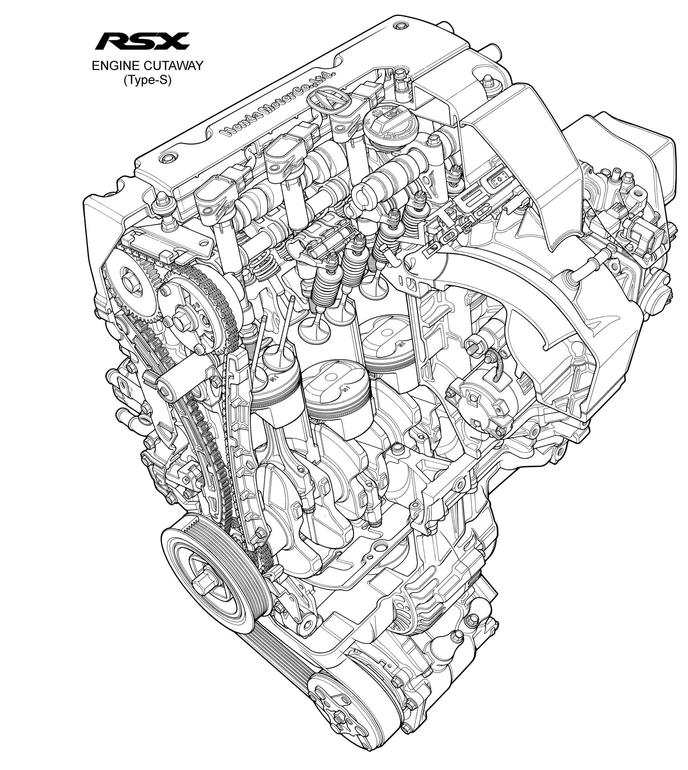 Honda Engine Cutaway Wallpapers