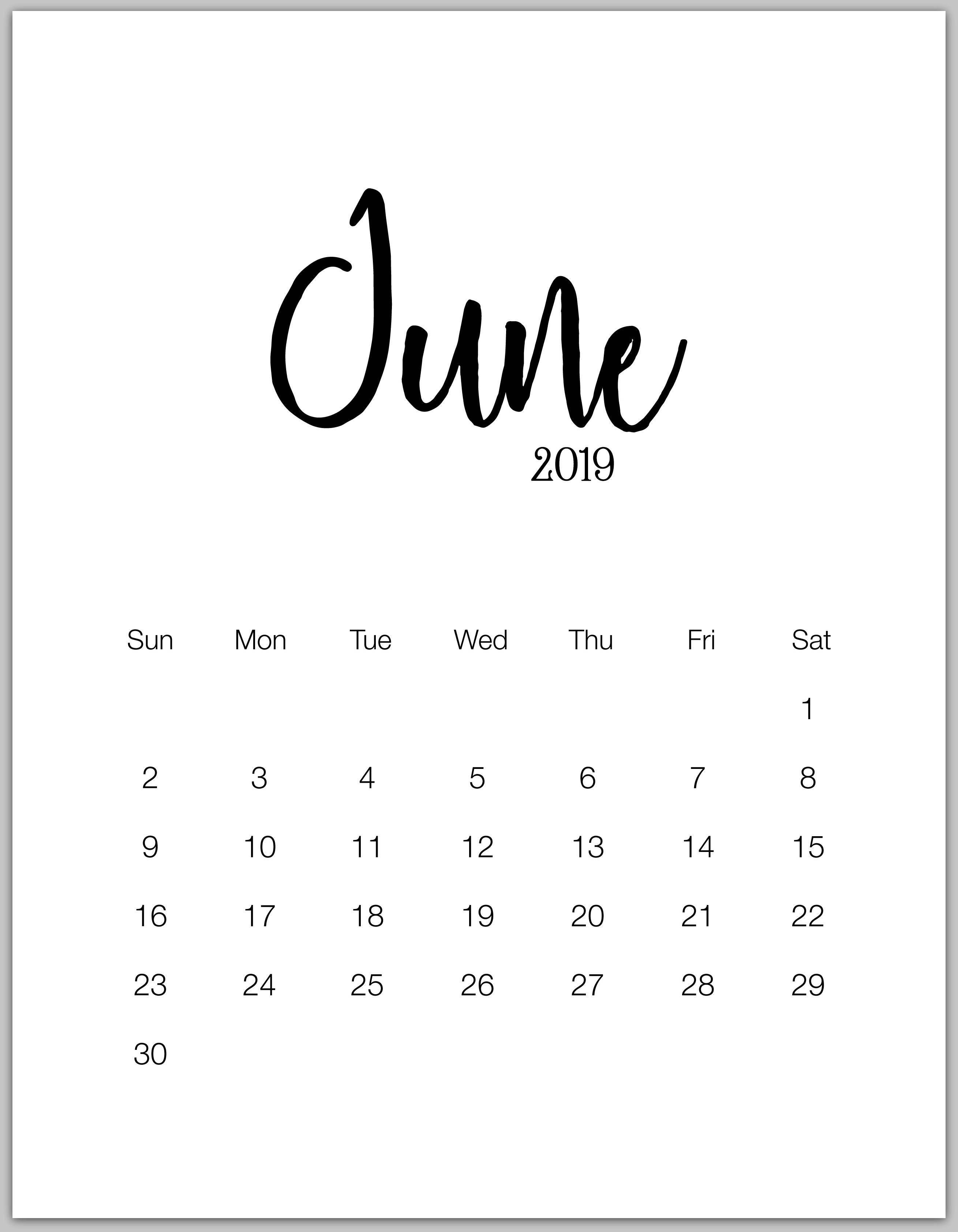 June Calendar Wallpapers